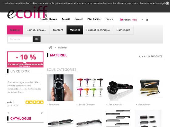 vente en ligne de matériel de coiffure